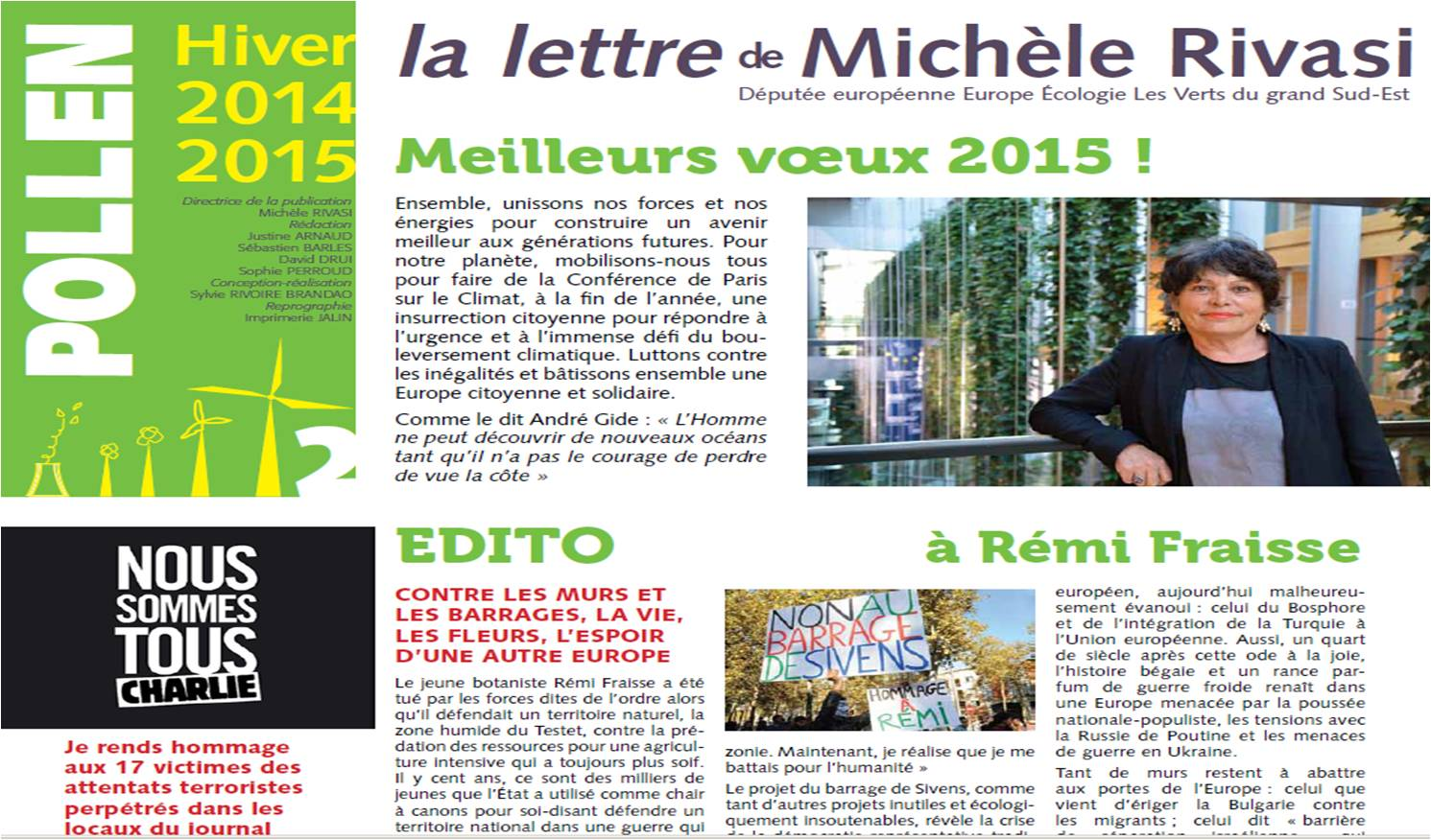 Pollen 2 – Lettre d'information de Michèle RIVASI