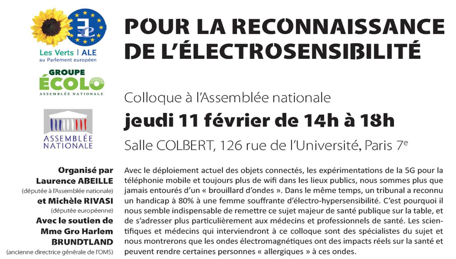Les Actes du Colloque sur l'électro hypersensibilité